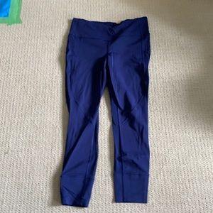 Lululemon crop leggings, mesh detail, 10